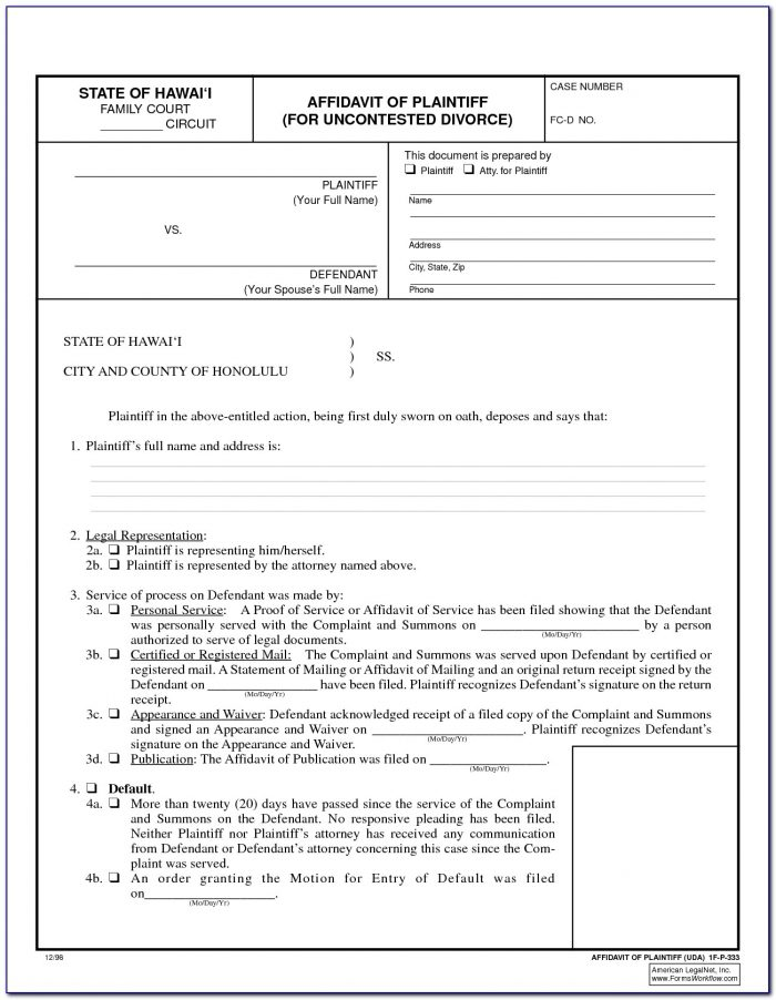 Il Uncontested Divorce Forms