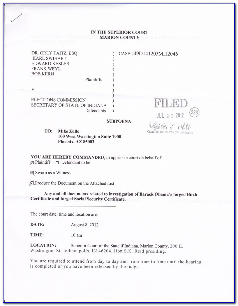 Indiana Notary Documents