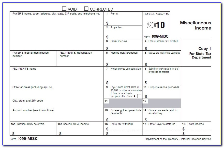 Instructions For Form 1099 Misc Box 3