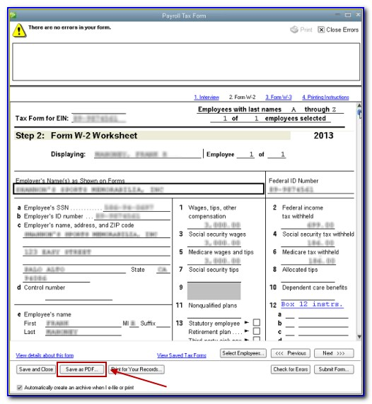 Intuit W 2 Forms