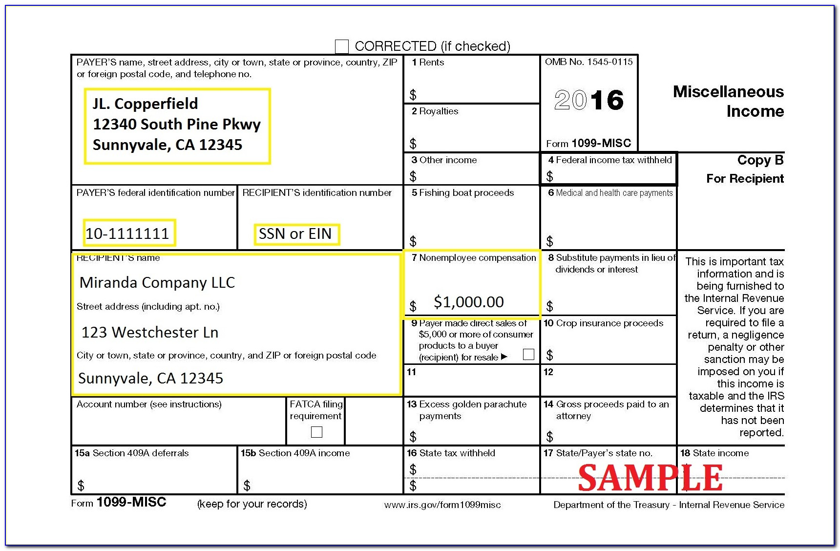 Irs 1099 Misc Form Order
