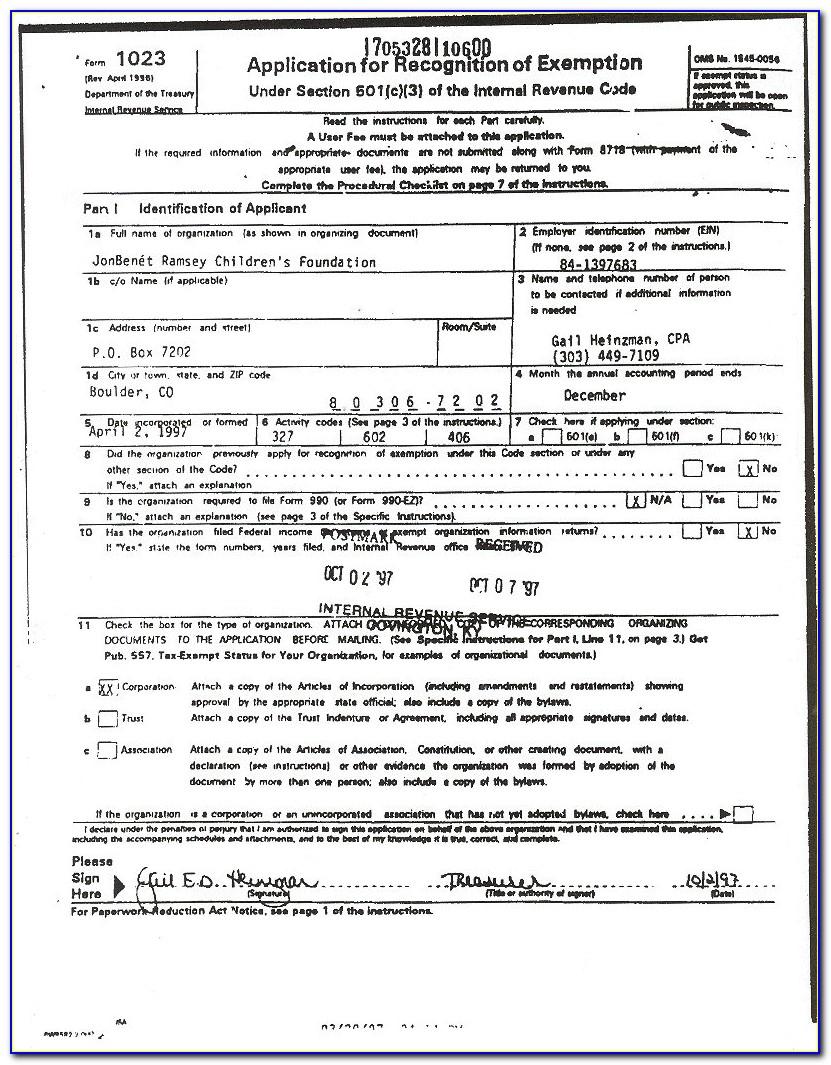 Irs Complaint Form 501c3