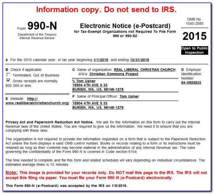 Irs Form 990 N Login