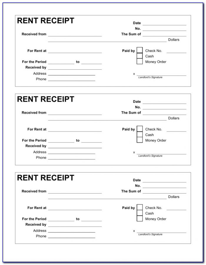 Free Rent Receipt Format India Form Resume Examples