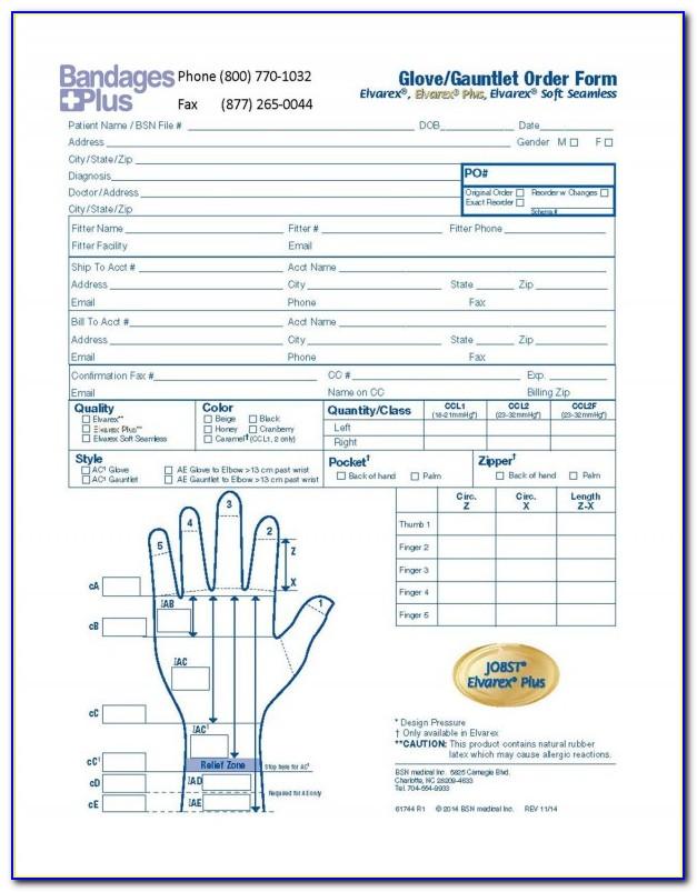 Jobst Measurement Forms
