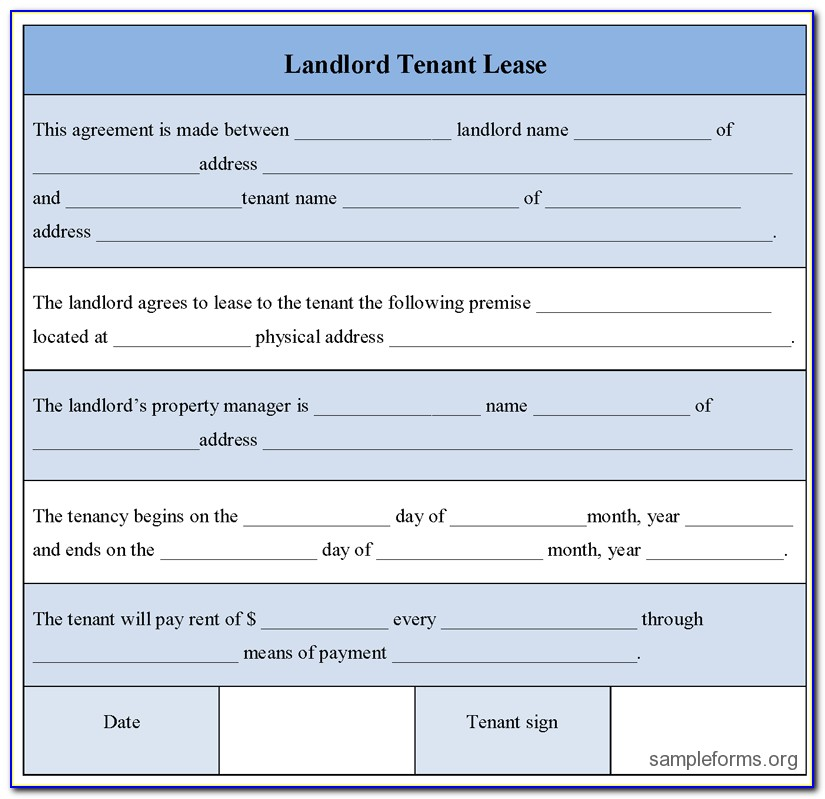 Landlord Lease Template Scotland
