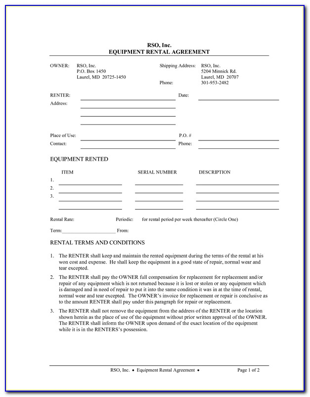 Landlord Rental Application Forms