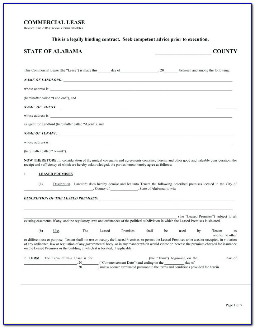Landlord Tenant Lease Forms
