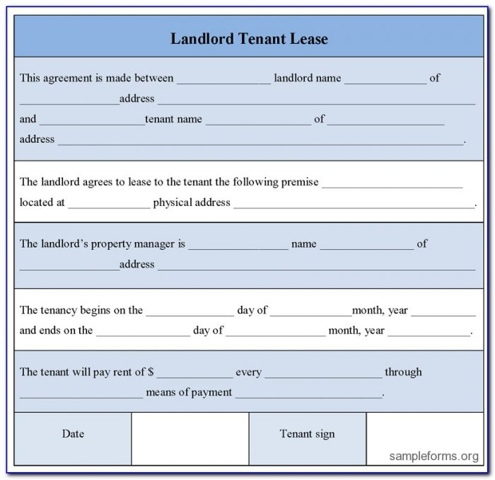 Landlord Tenant Legal Forms