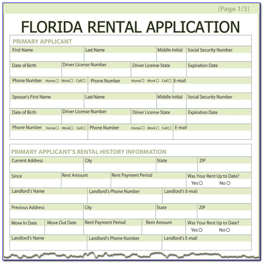 Lease Agreement Form Florida