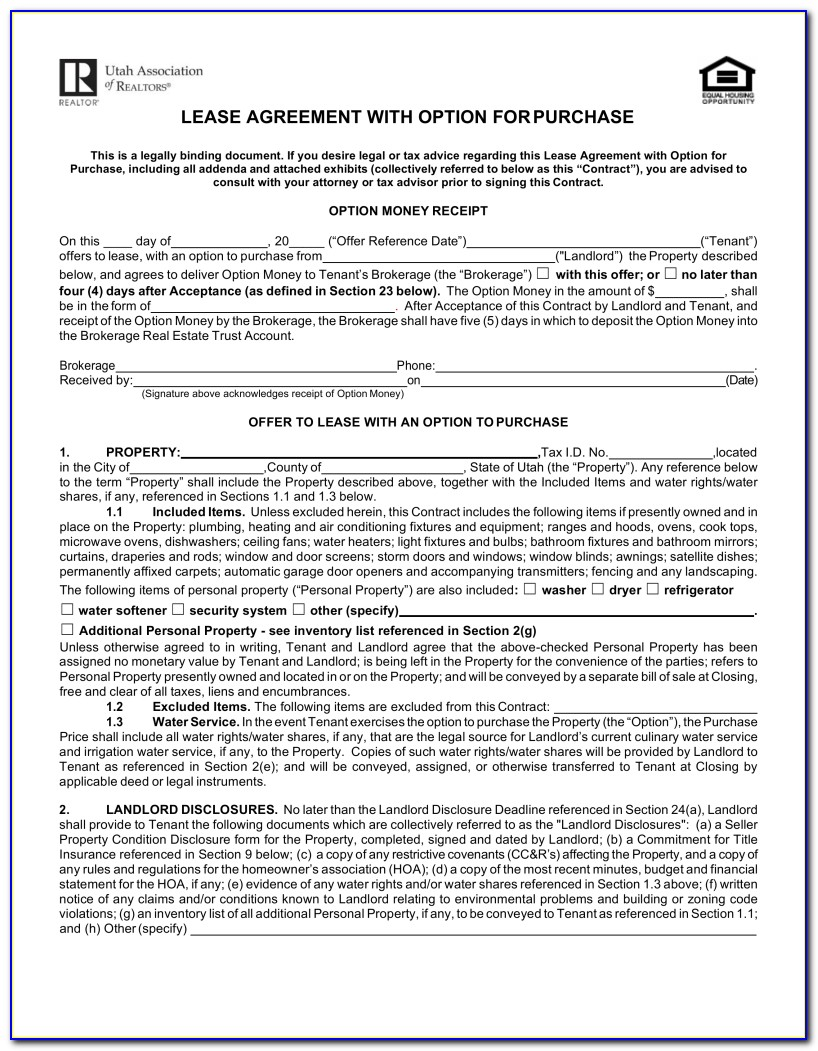 Lease Purchase Agreement Georgia Free