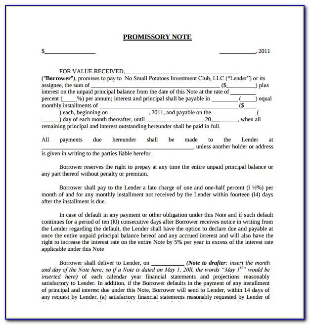 Lichfl Demand Promissory Note Format