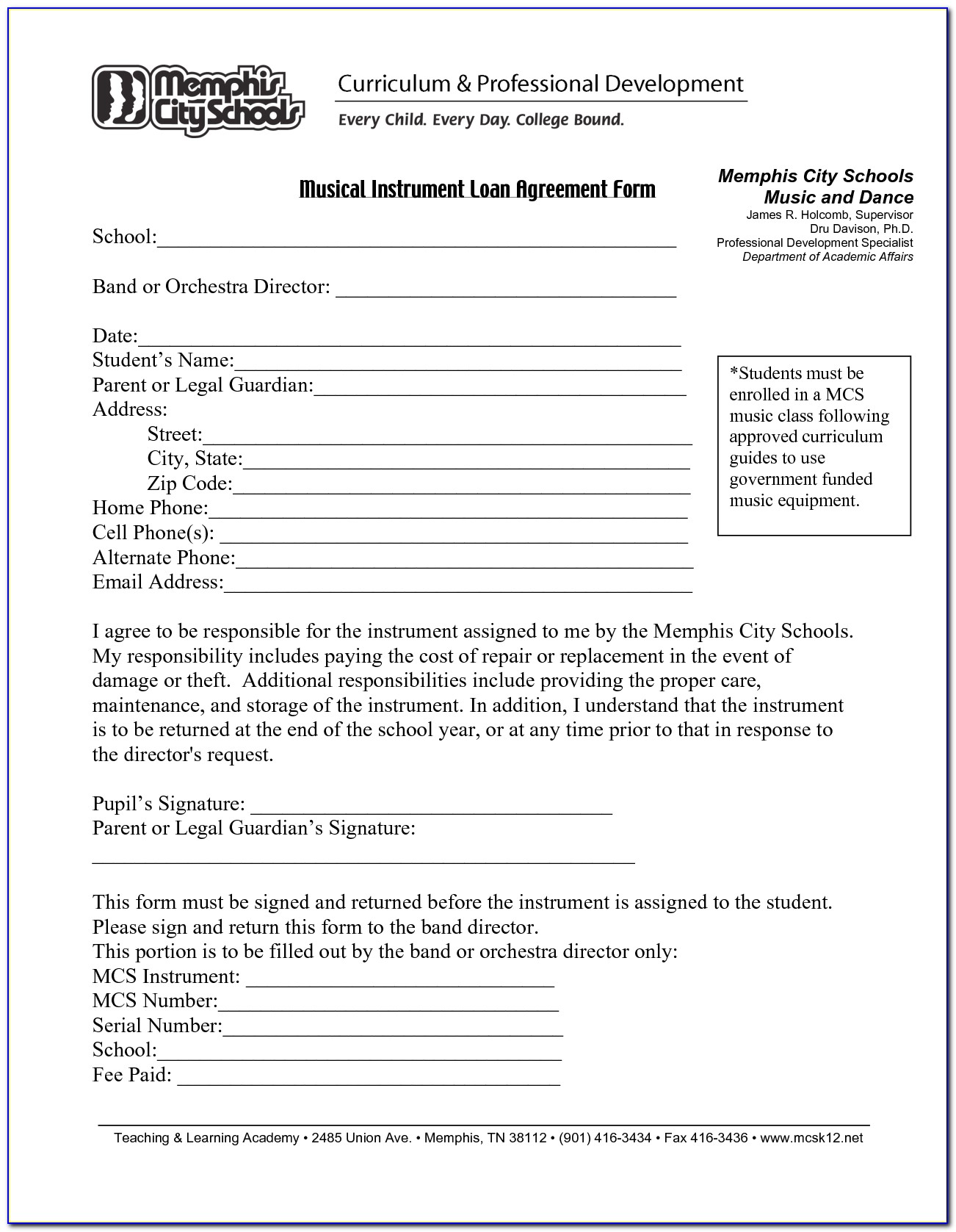 Loan Agreements Template