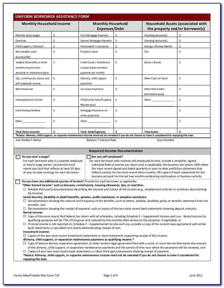 Loan Modification Forms For Wells Fargo