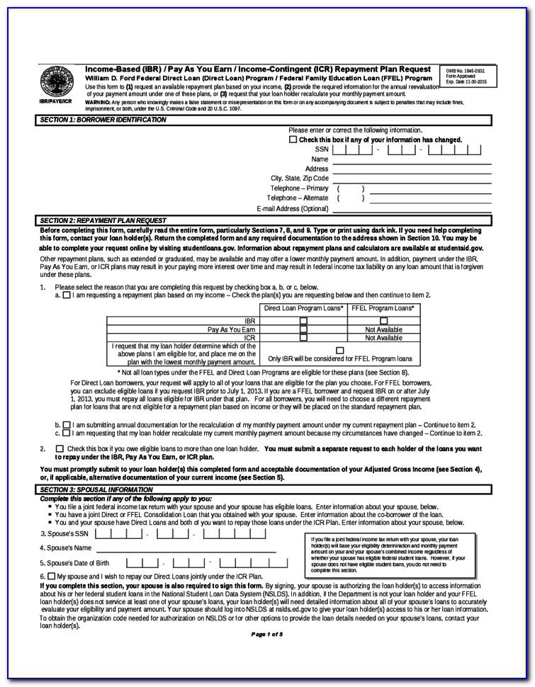 Loan Repayment Tax Form