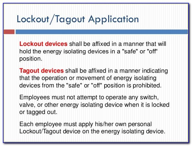 Lockout Tagout Procedures Powerpoint