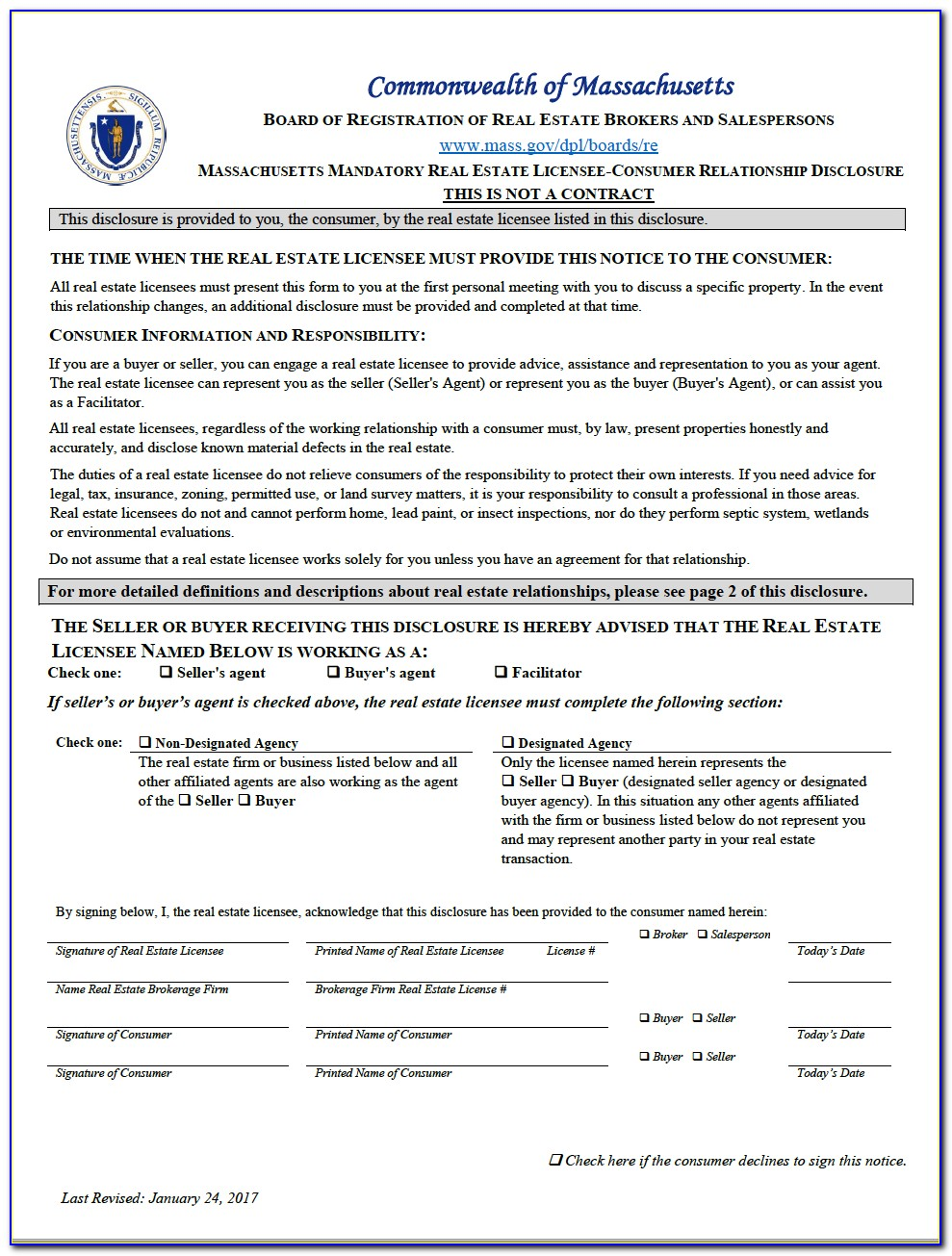 Massachusetts Real Estate Forms Free