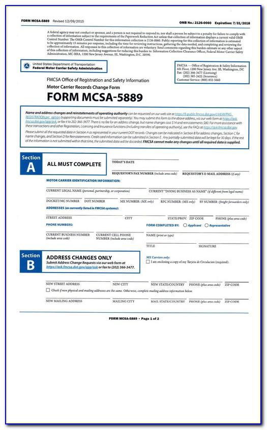 Mcs 150 Form Update
