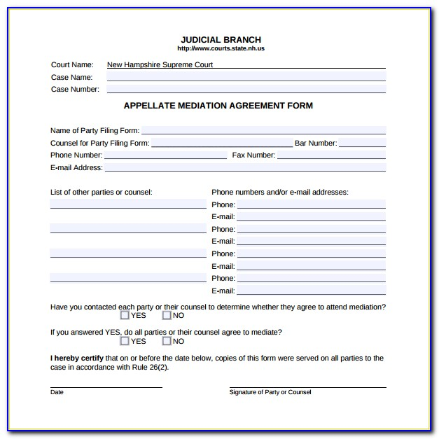 Mediation Forms Templates