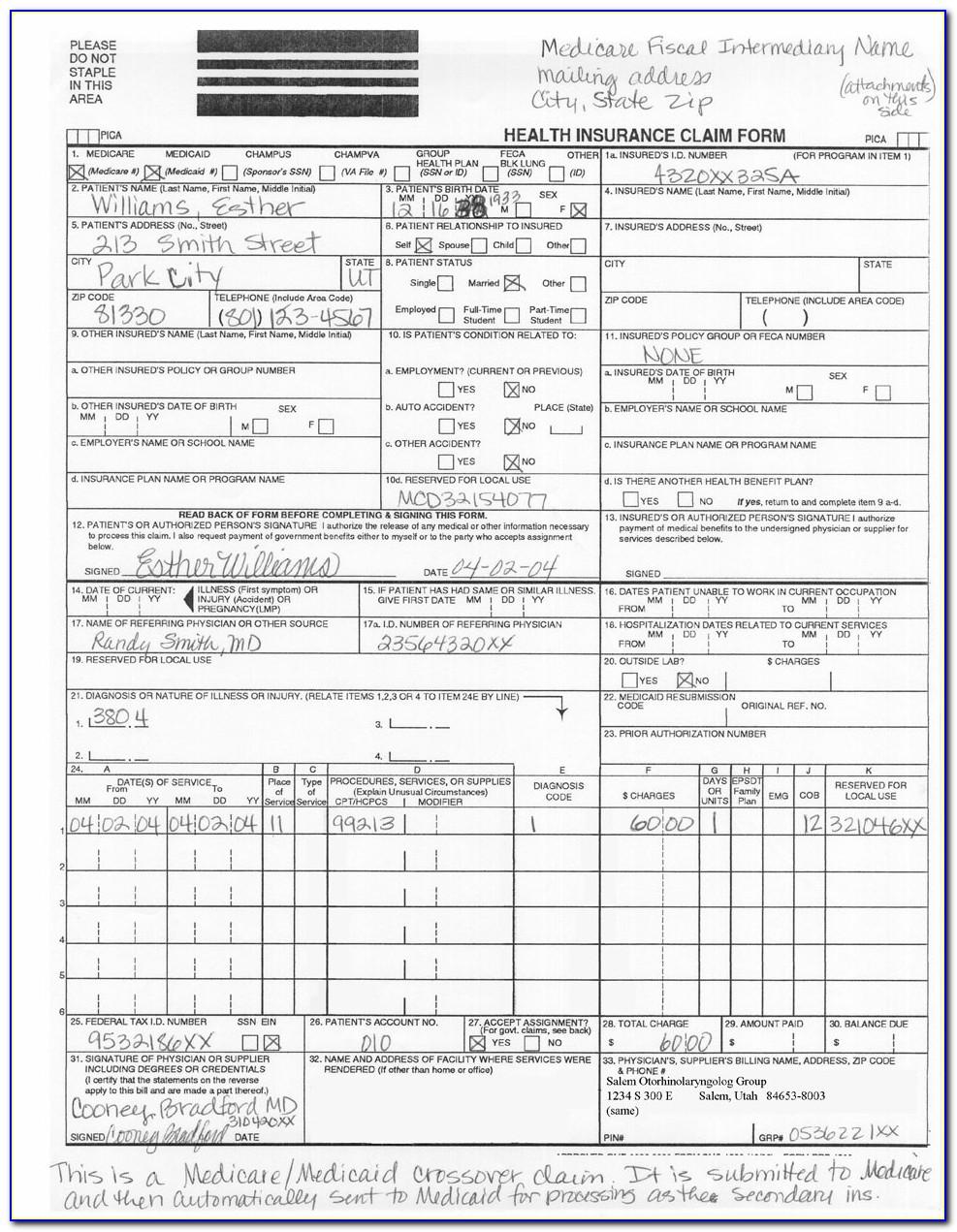 Medicare 1500 Form 2014
