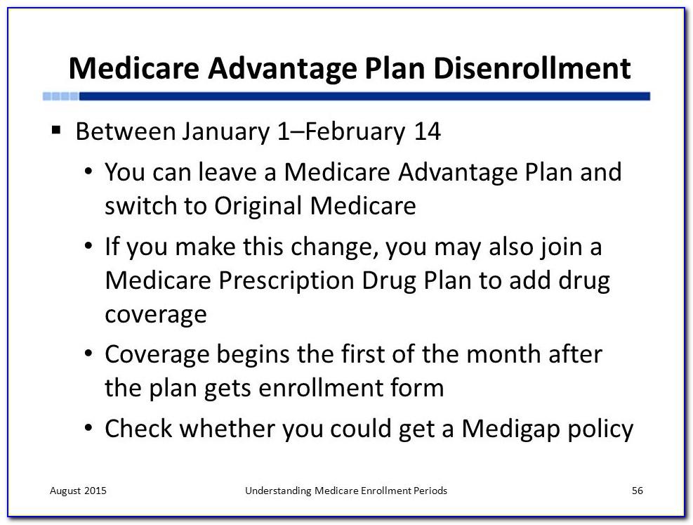Medicare Advantage Disenrollment Form