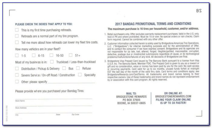 Michelin Tire Rebate Form August 2017