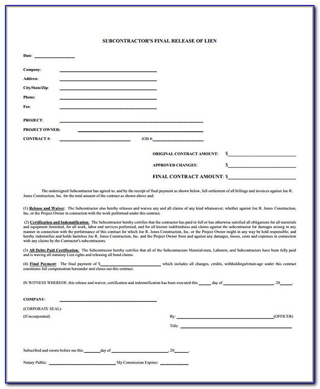 Michigan Construction Lien Act Notice Of Commencement
