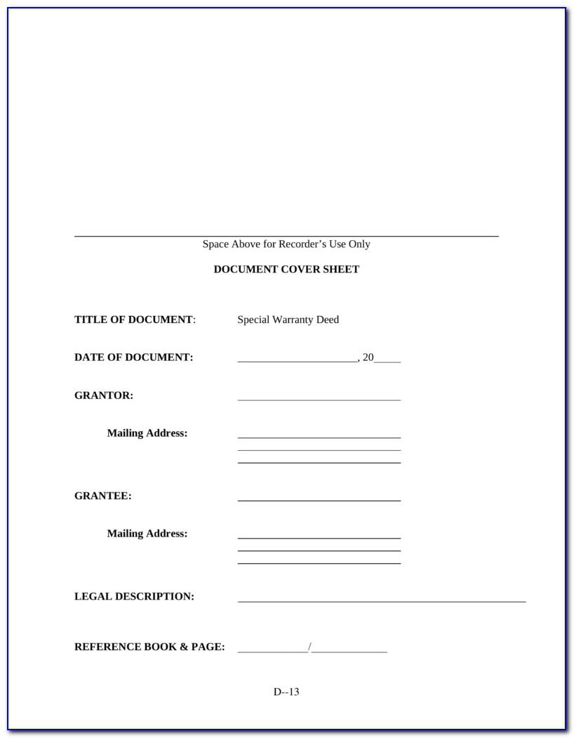 Missouri Warranty Deed Form Free