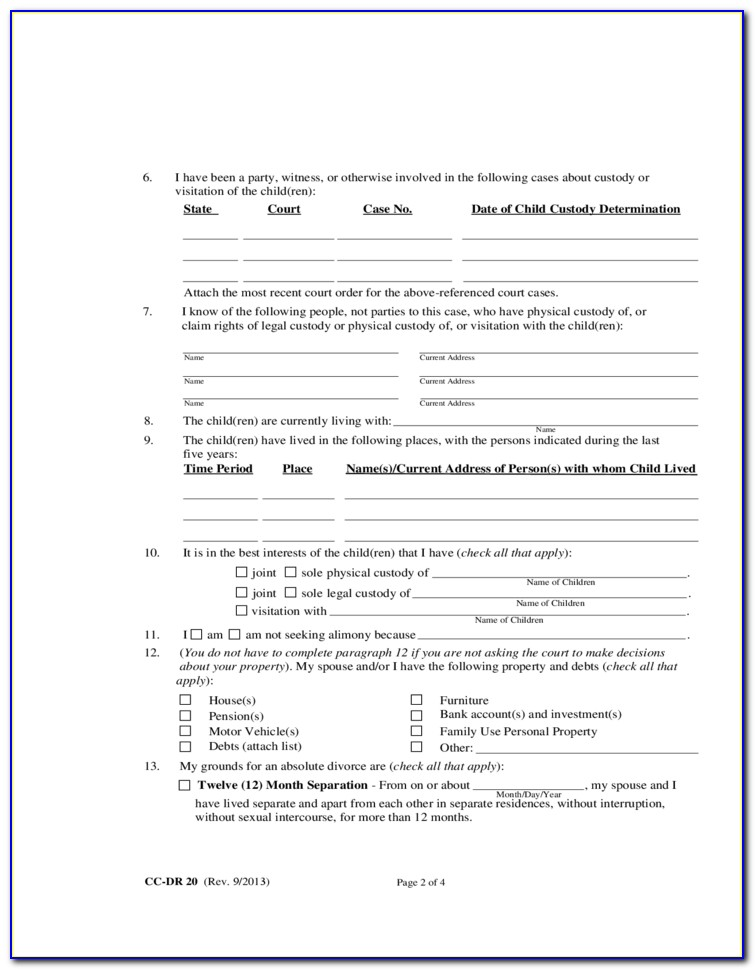 Mutual Consent Divorce Maryland Forms