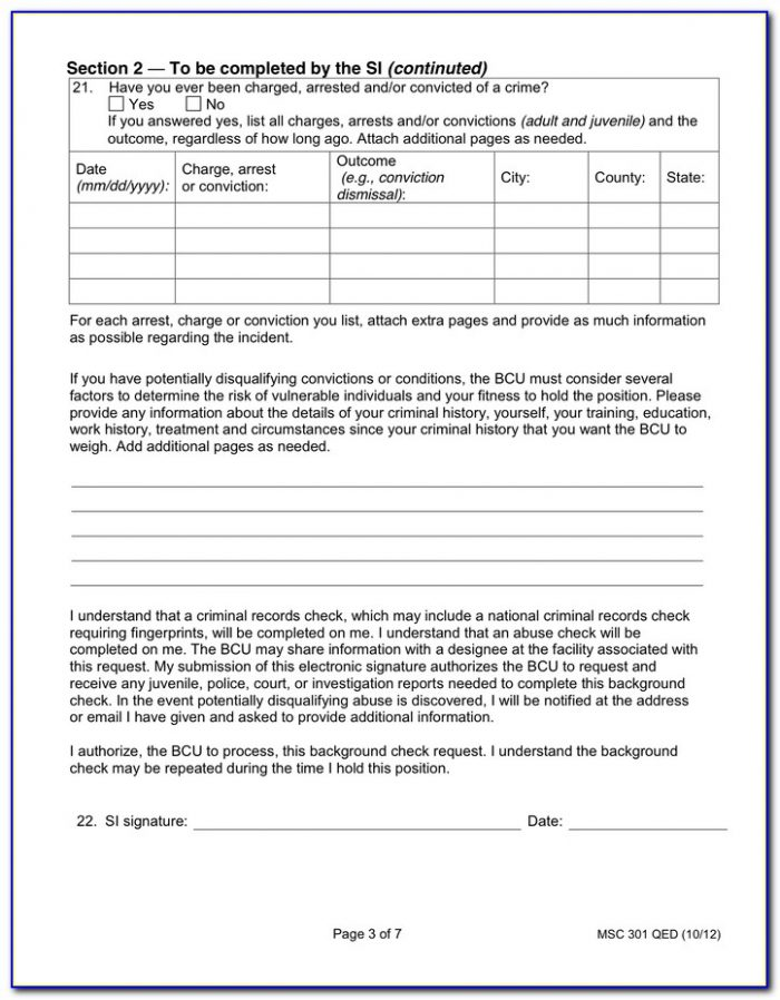 Nanny Background Check Consent Form