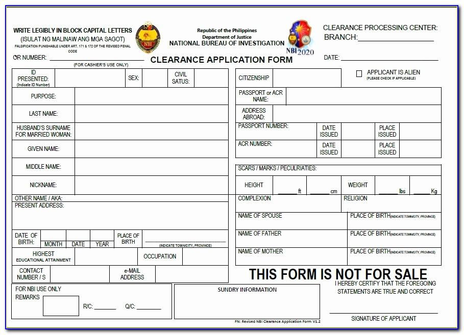 Nbi Application Form 2017 Elegant Everyday Rhythm Nbi Clearance
