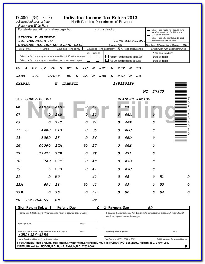 Nc State Tax Forms 2013