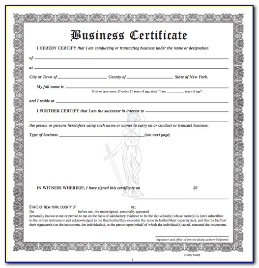 New York State Dba Form