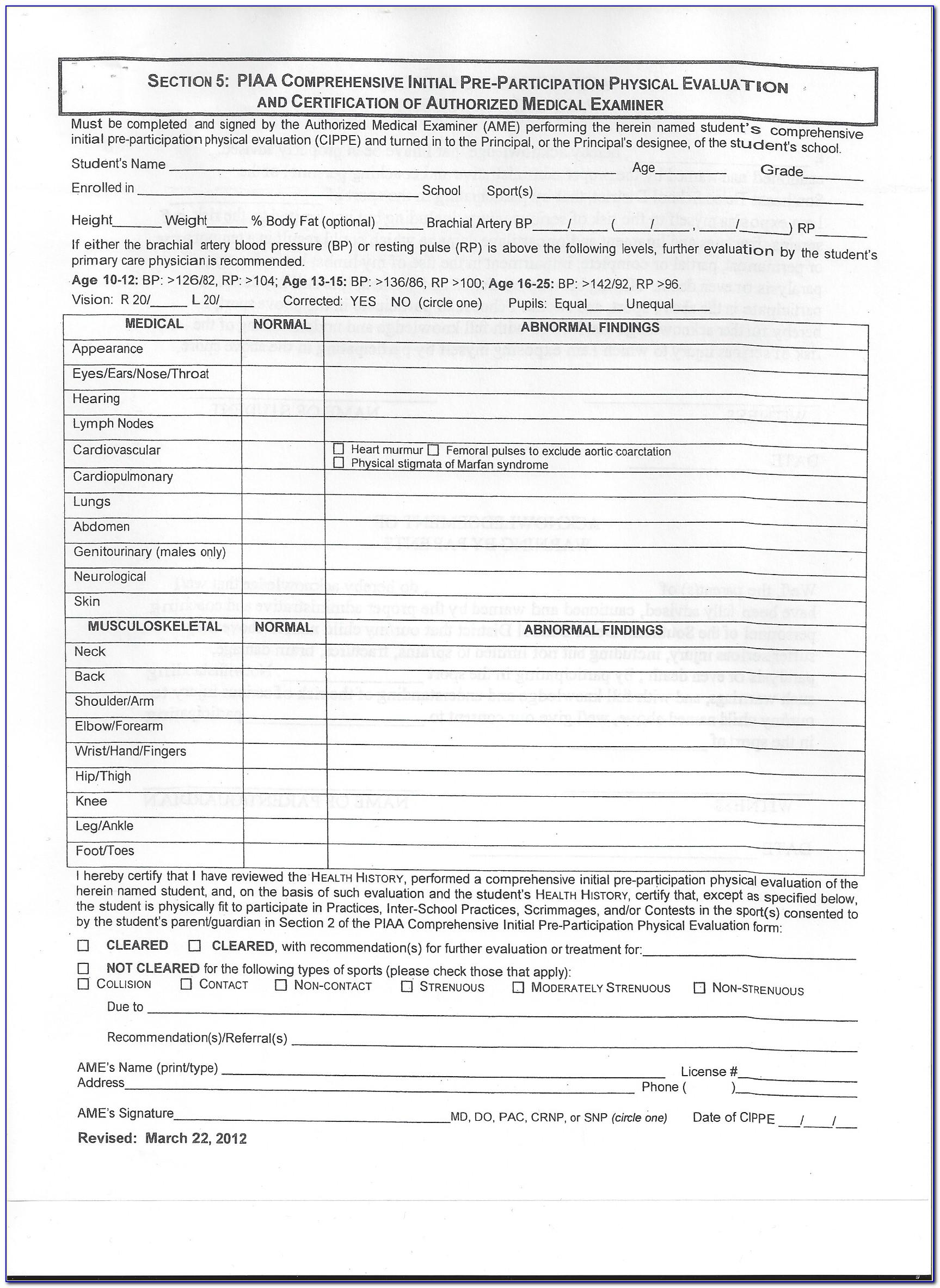 sports physical form nextcare  Nextcare Urgent Care Sports Physicals Forms - Form : Resume ...