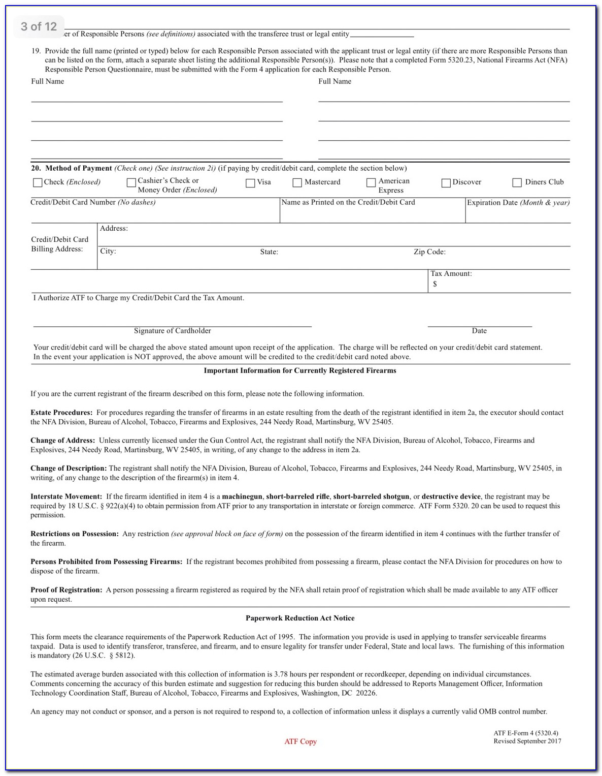 Nfa Trust Form 4 Example