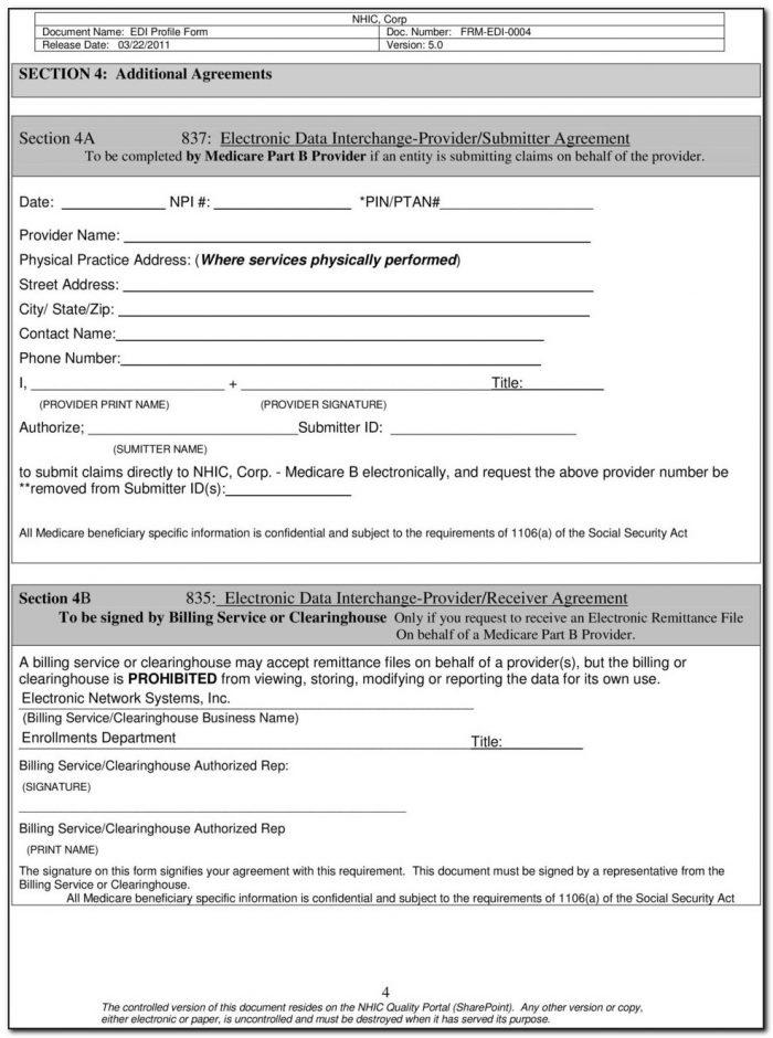 Ngs Edi Enrollment Agreement Form