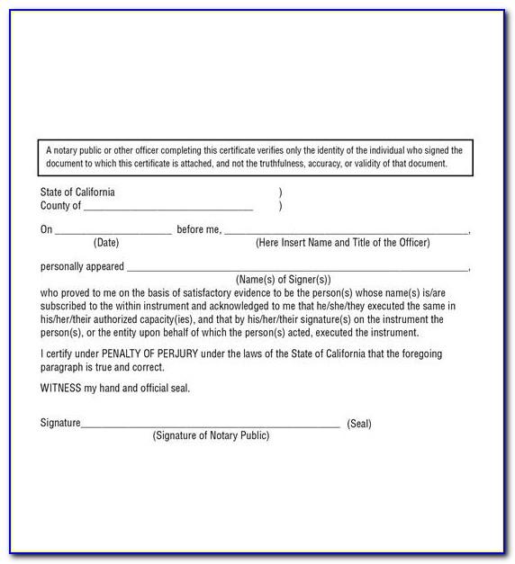 Notary Public Affidavit California