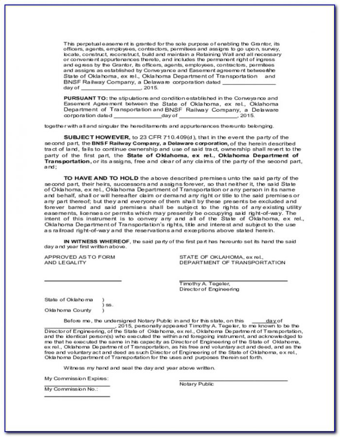 Oklahoma Quit Claim Deed Form Free Download