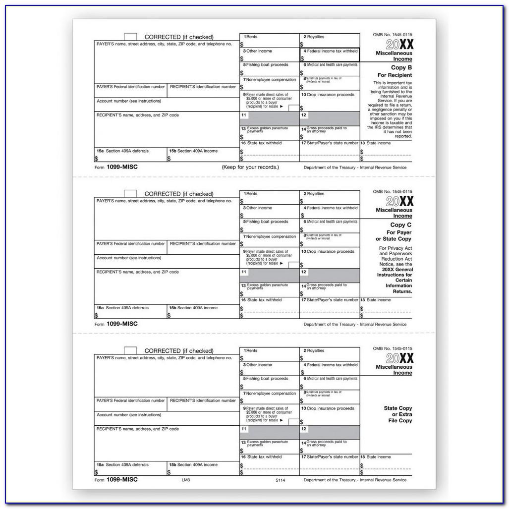 Order Form 1099 Misc 2016
