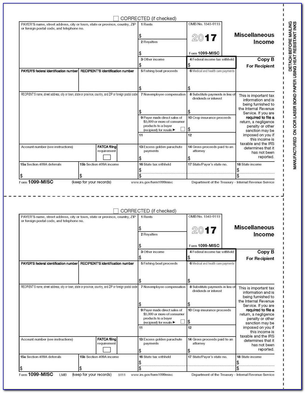 Order Form 1099 Misc 2018