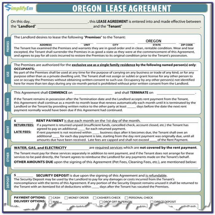 Oregon Landlord Tenant Forms