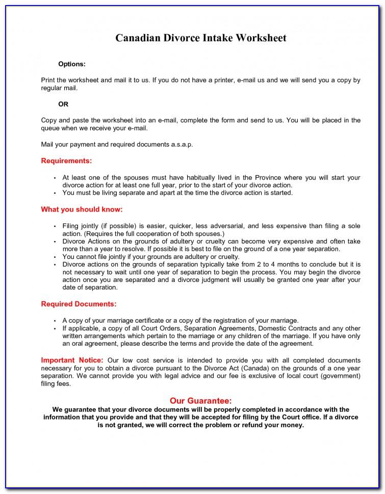Orleans Parish Divorce Forms