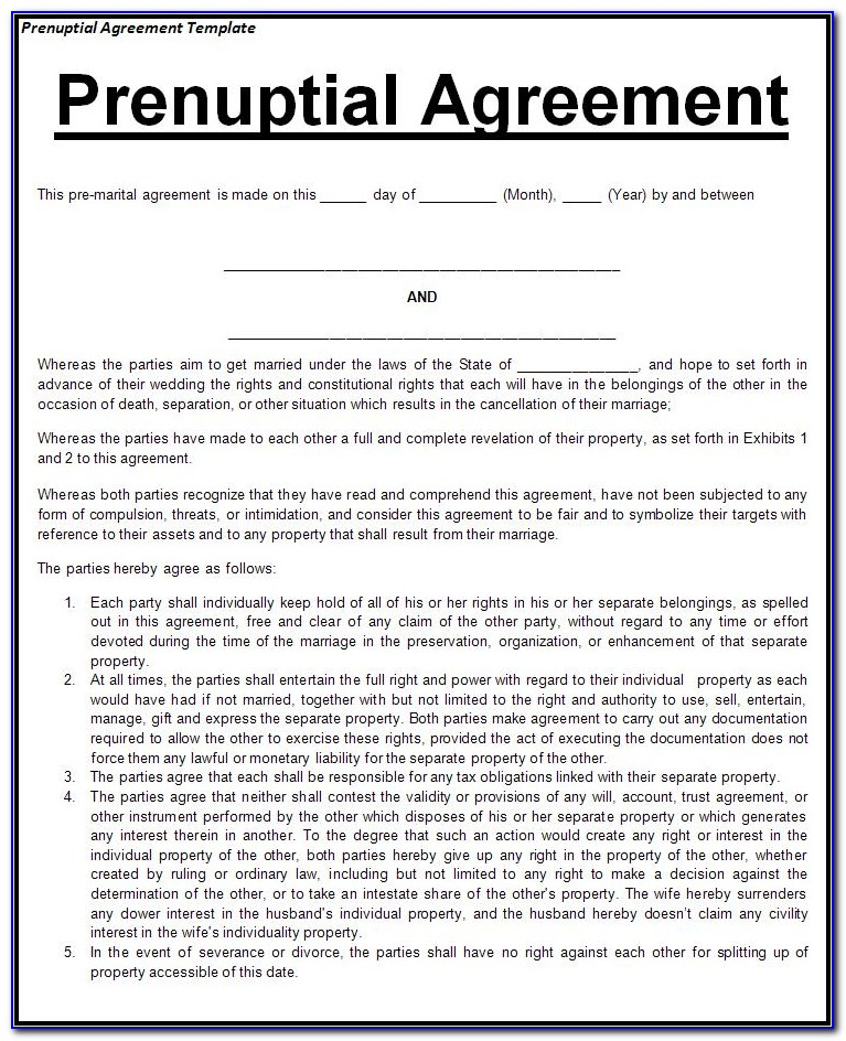 Pa Prenuptial Agreement Form