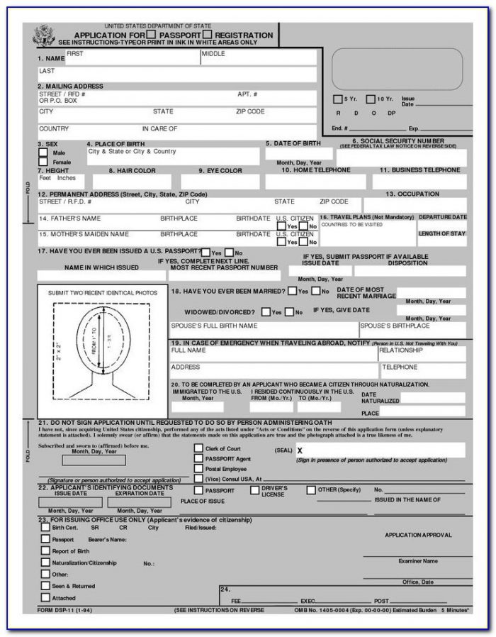 Best 25+ Online Passport Application Form Ideas On Pinterest For Printable Passport Application