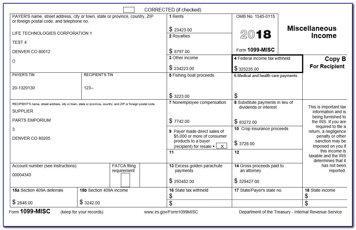 Pdf 1099 Misc Form 2017