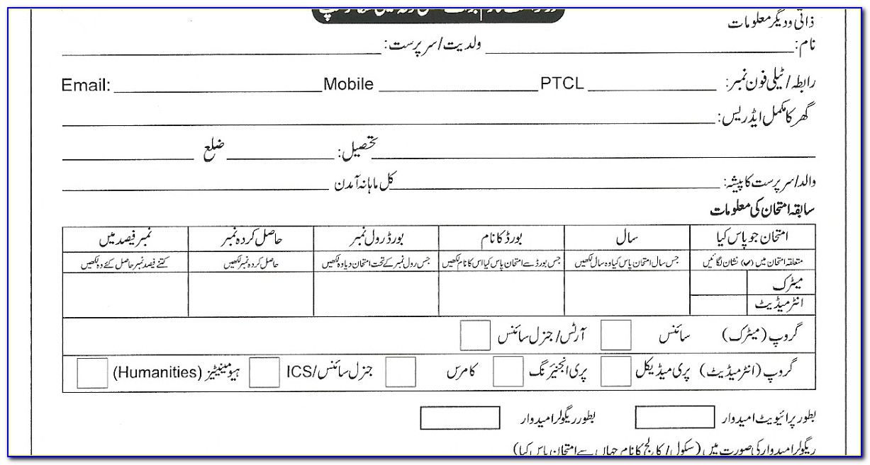 Peef Scholarship Form For 8th Class