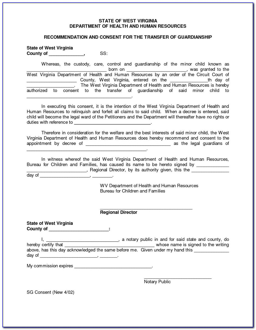 Permanent Guardianship Forms In Texas
