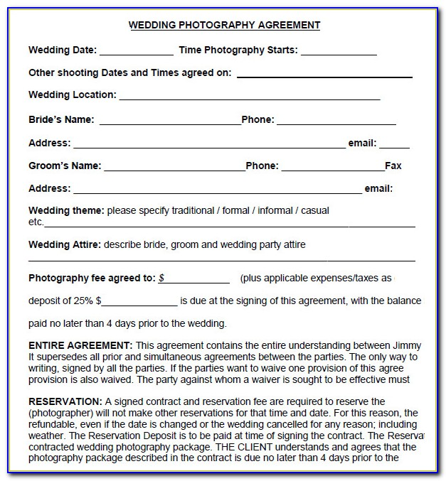 Photography Consent Form Template Australia