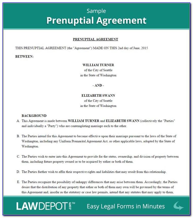 Prenuptial Inquiry Form Ireland