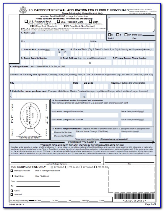 Print Form Ds 82 And Complete By Hand